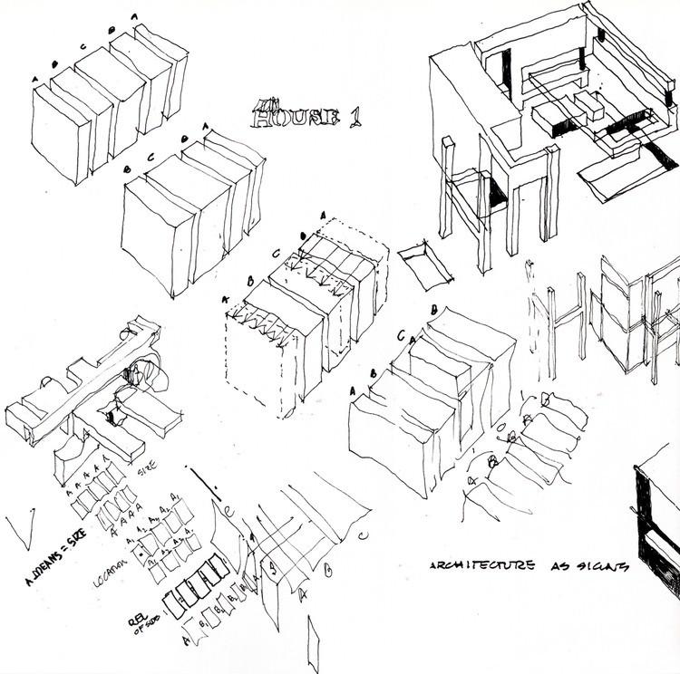 Sketch of House I. Image Courtesy of an-onymous.com