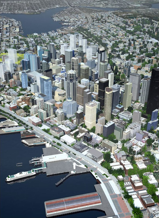 Could Virtual Cities Make Our Real Cities Smarter?, Seattle's citywide model. Image Courtesy of Autodesk