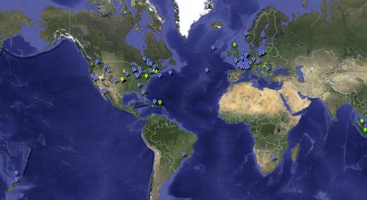 2013 PARK(ing) Day Map (screen shot). Image