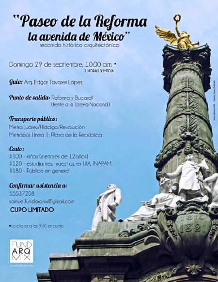 Paseo de la Reforma, la Avenida de México / Recorrido FUNDARQMX, Cortesía de FUNDARQMX