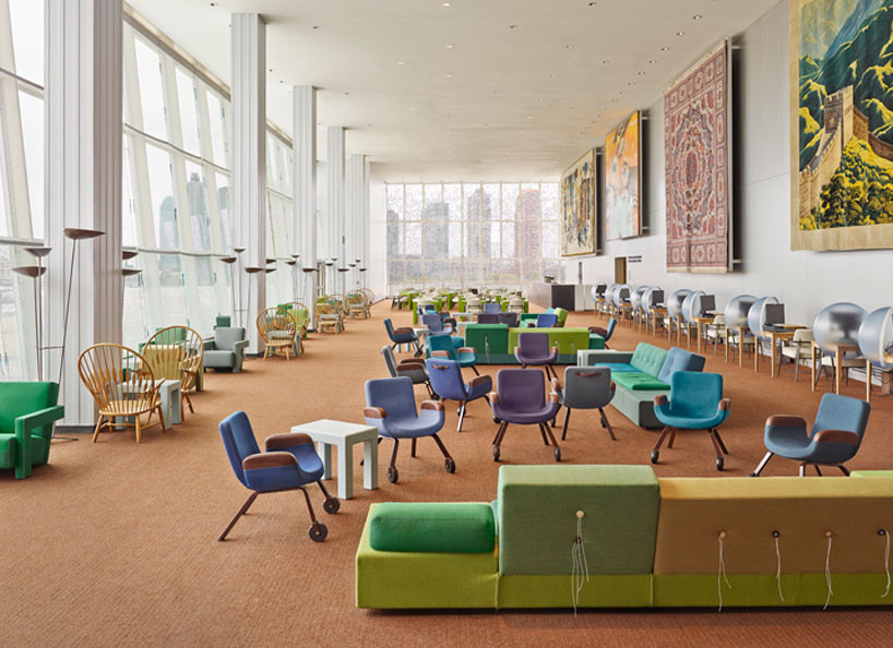 Koolhaas Revamps UN Building's Modernist-Era Lounge, © Frank Oudeman