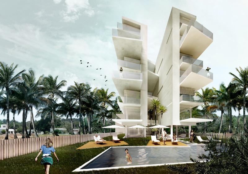 Edificio residencial en Coronado / Ximena Mallol Azcárraga. Image Courtesy of JAP!