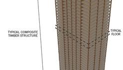 SOM Gets Behind Wooden Skyscraper Design