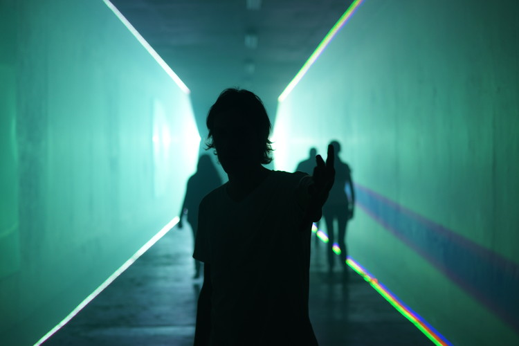 Laser tunnel - Nerd Light - Cocolab. Image © Jose Manuel Espinola
