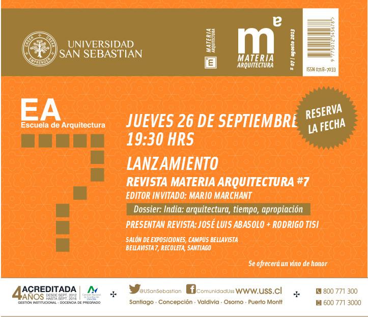 Lanzamiento Revista Materia Arquitectura 7