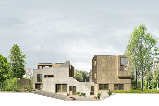 Springdale Gardens. Image Courtesy of Henley Halebrown Rorrison Architects