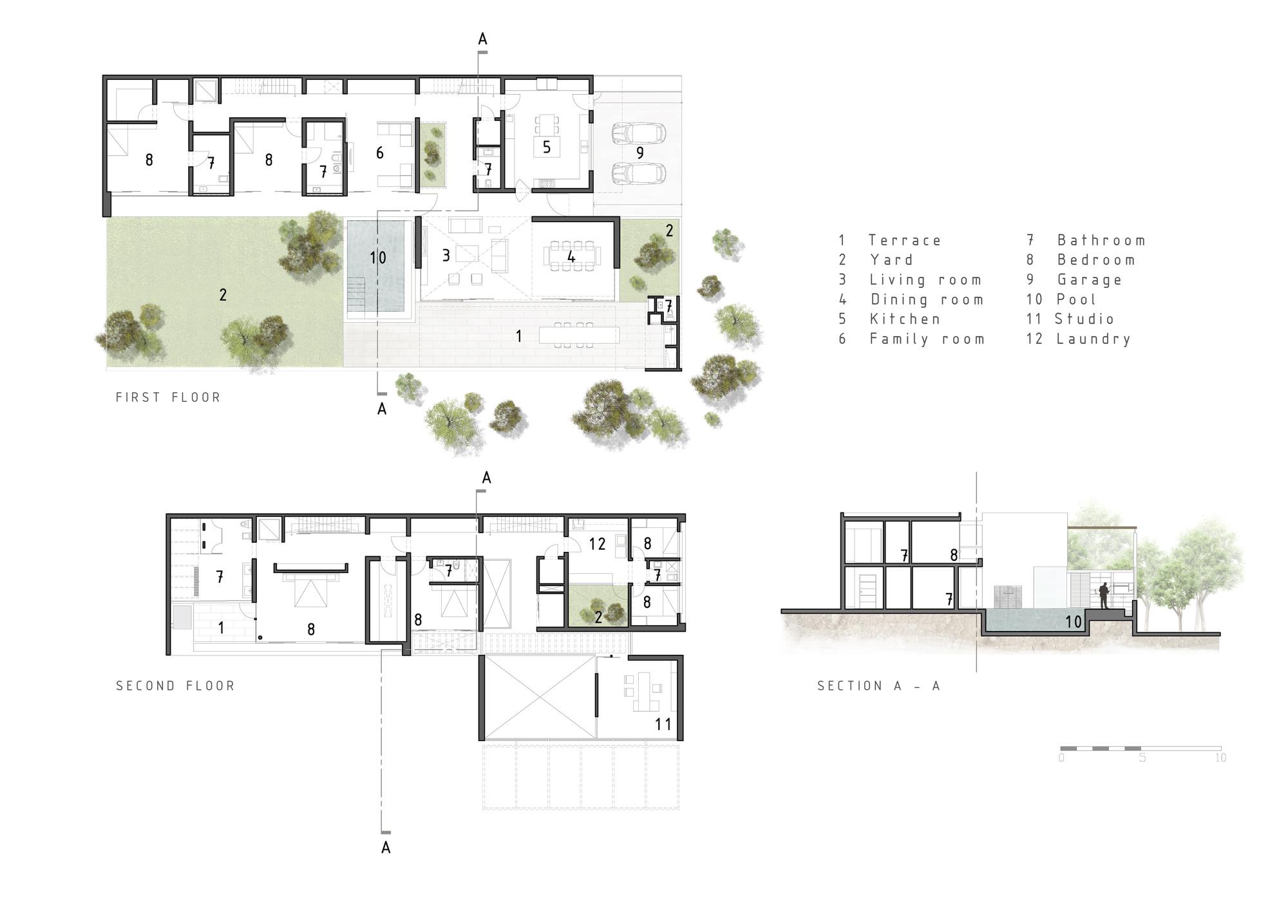 Cachalotes house oscar gonzalez moix archdaily for Oscar plans