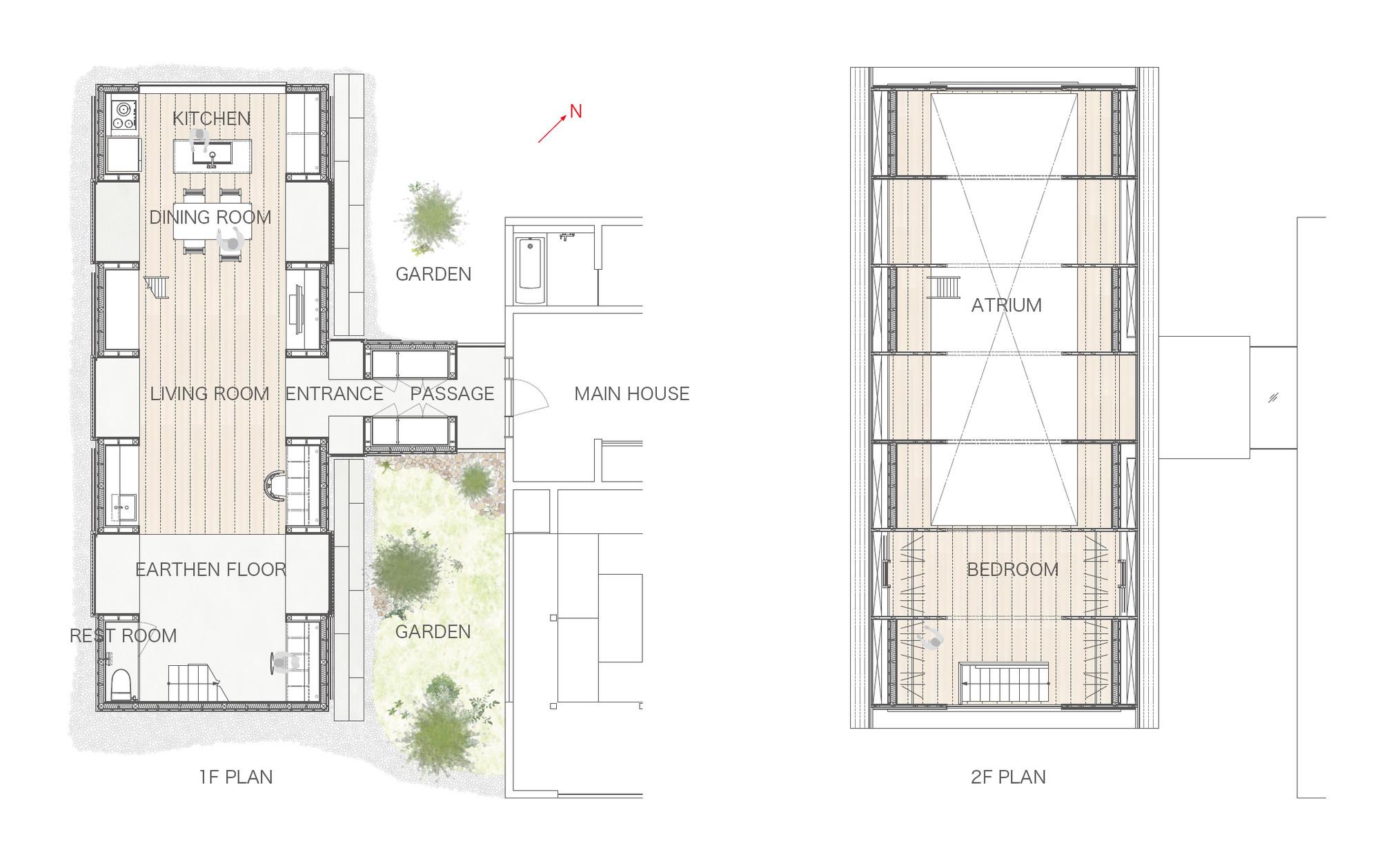 Gallery of koya no sumika ma style architects 16 - Large cabin plans minimalist ...
