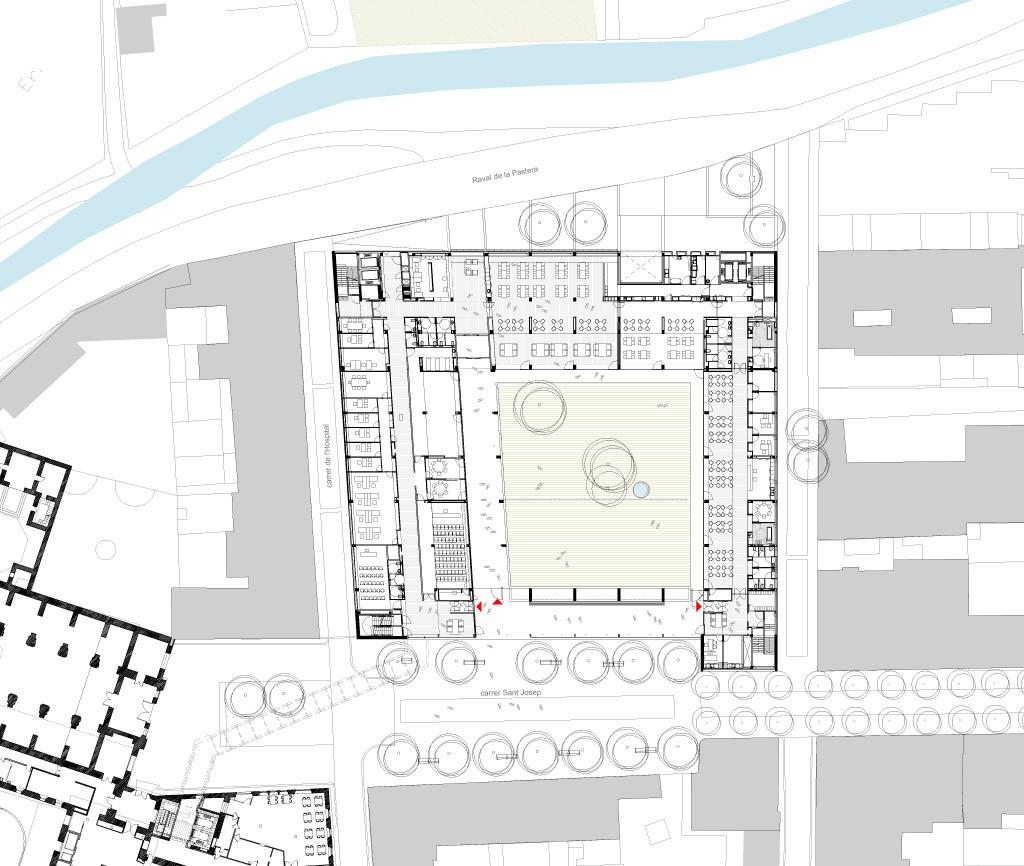 Vilanova i la geltr services platform pinearq archdaily for Floor plan magazines