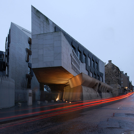The Scottish Parliament, Stirling Prize winner in 2005 has experienced multiple problems. Image © Dave Morris Photography