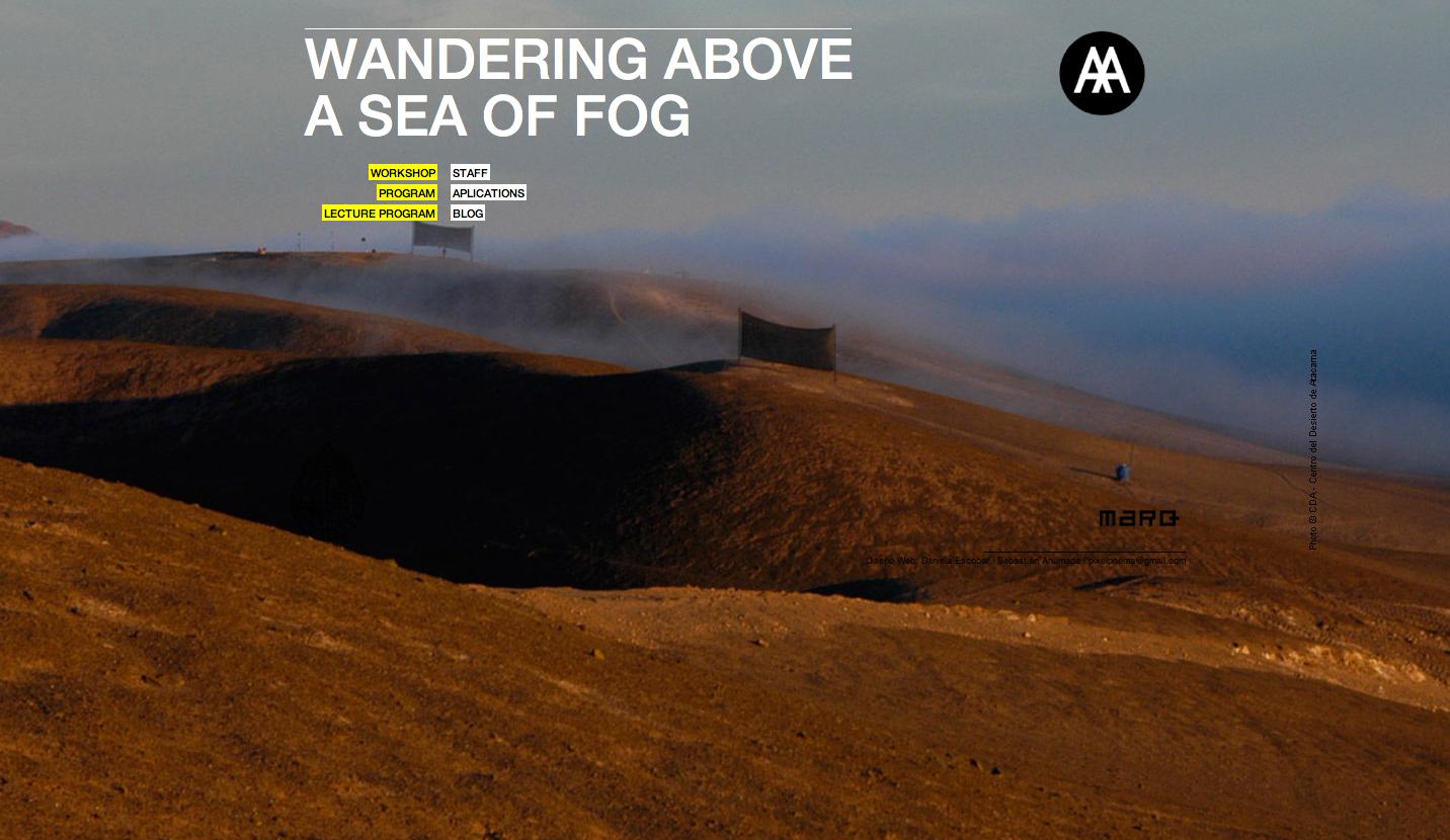 Derivando sobre un mar de niebla / Taller Deserta Architectural Association /MARQ UC 2014 , Courtesy of MARQ