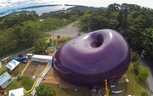 World's First Inflatable Concert Hall Opening in Japan, Lucerne Festival Ark Nova 2013. Image Courtesy of The Telegraph
