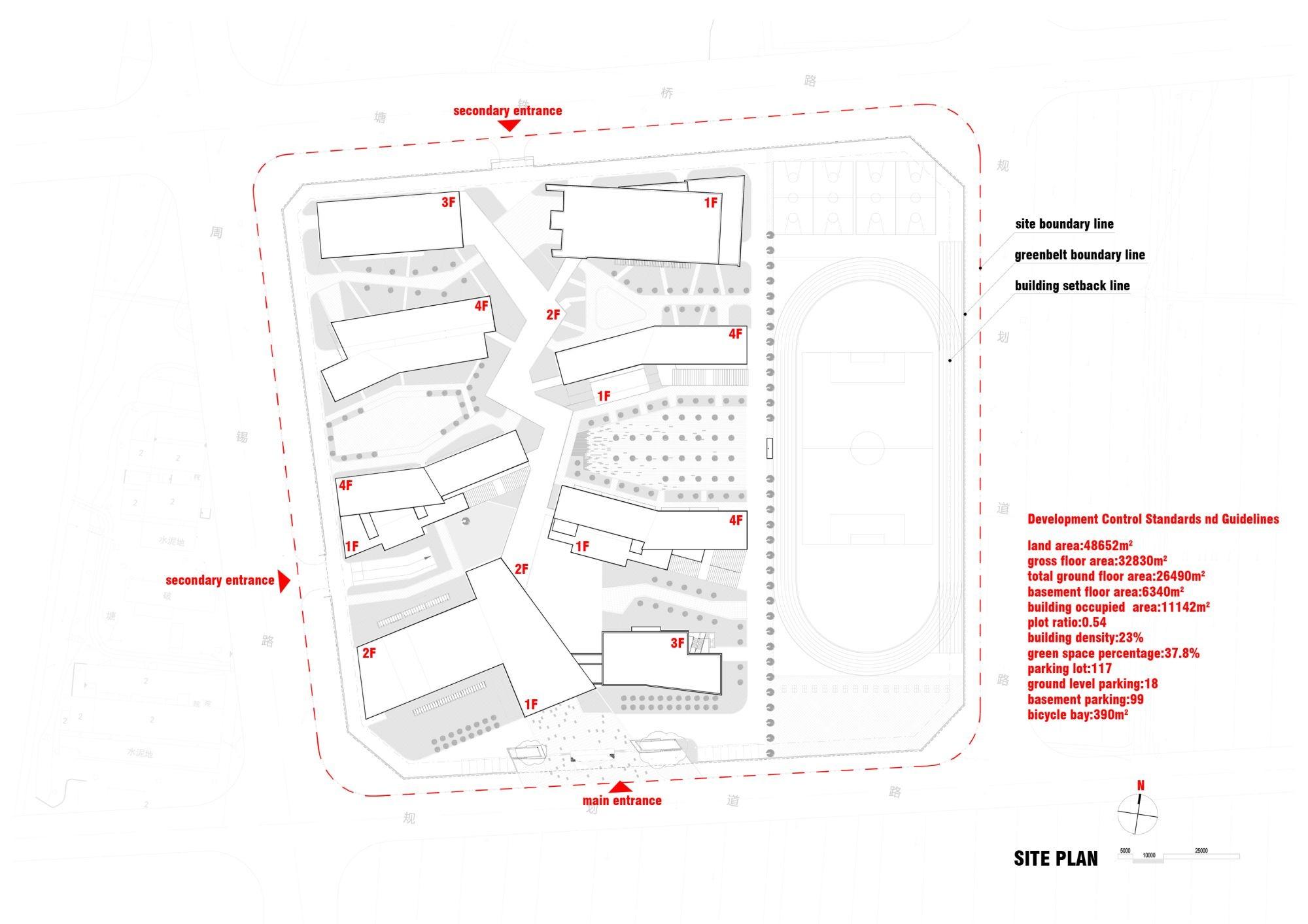 Taihu new town primary schoolsite plan