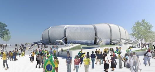2016 Olympic Stadium Design. Image Courtesy of POPULOUS