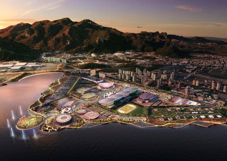 AECOM Masterplan of Rio 2016 Olympic Park. Image © AECOM