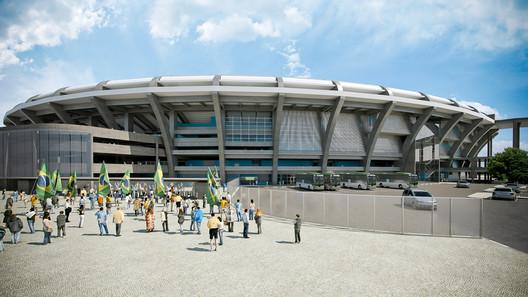2014 World Cup Final Stage Stadium . Image Courtesy of Fernandes Arquitetos Associados