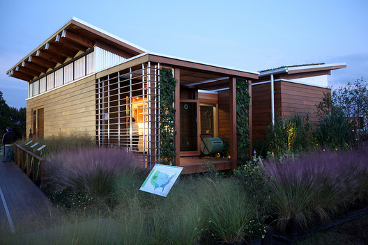 The University of Maryland's entry, WaterShed, which placed first overall, in the U.S. Department of Energy Solar Decathlon 2011 in Washington, D.C., Friday, Sept. 30, 2011. Image © Stefano Paltera/U.S. Department of Energy Solar Decathlon