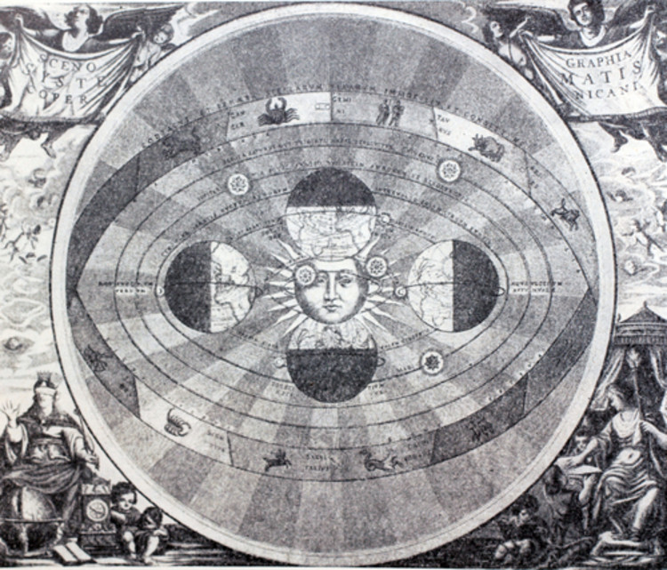 Unified Architectural Theory: Chapter 2A, Illustration portraying Heliocentrism theory of Nicolaus Copernicus. Image Courtesy of Iryna1, Shutterstock.com