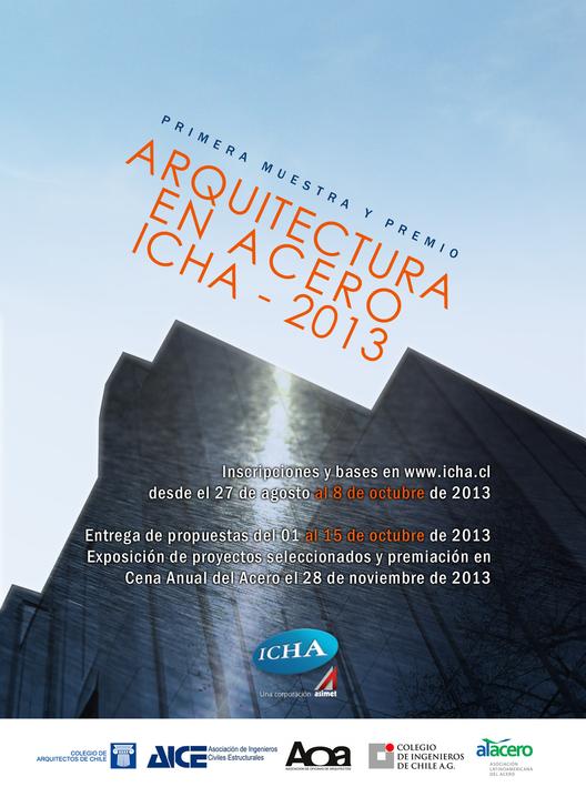 Convocatoria para muestra arquitectónica de obras construidas en acero / ICHA , Courtesy of ICHA