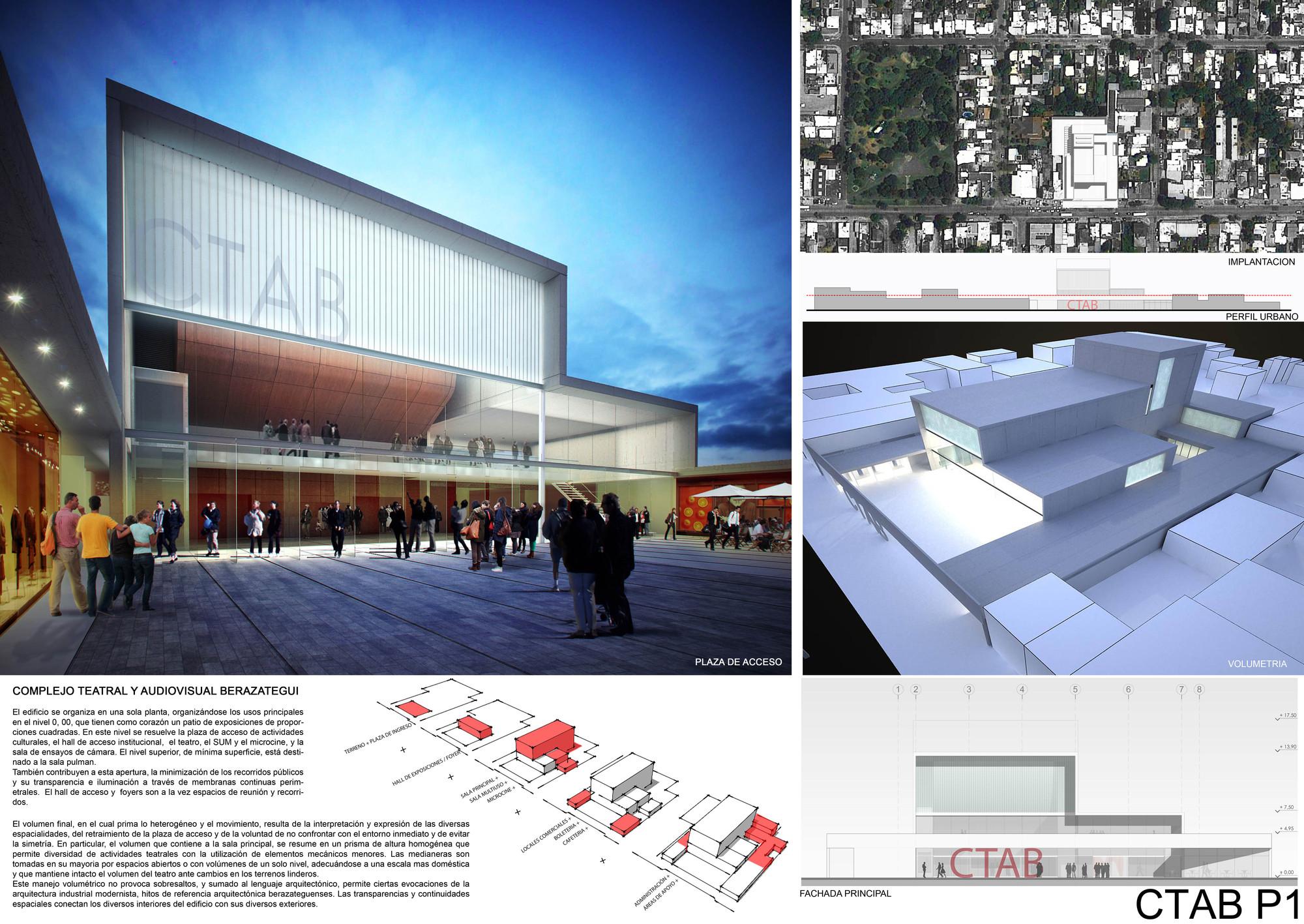 Lamina Primer Lugar. Image Courtesy of Colegio de Arquitectos de la Provincia de Buenos Aires