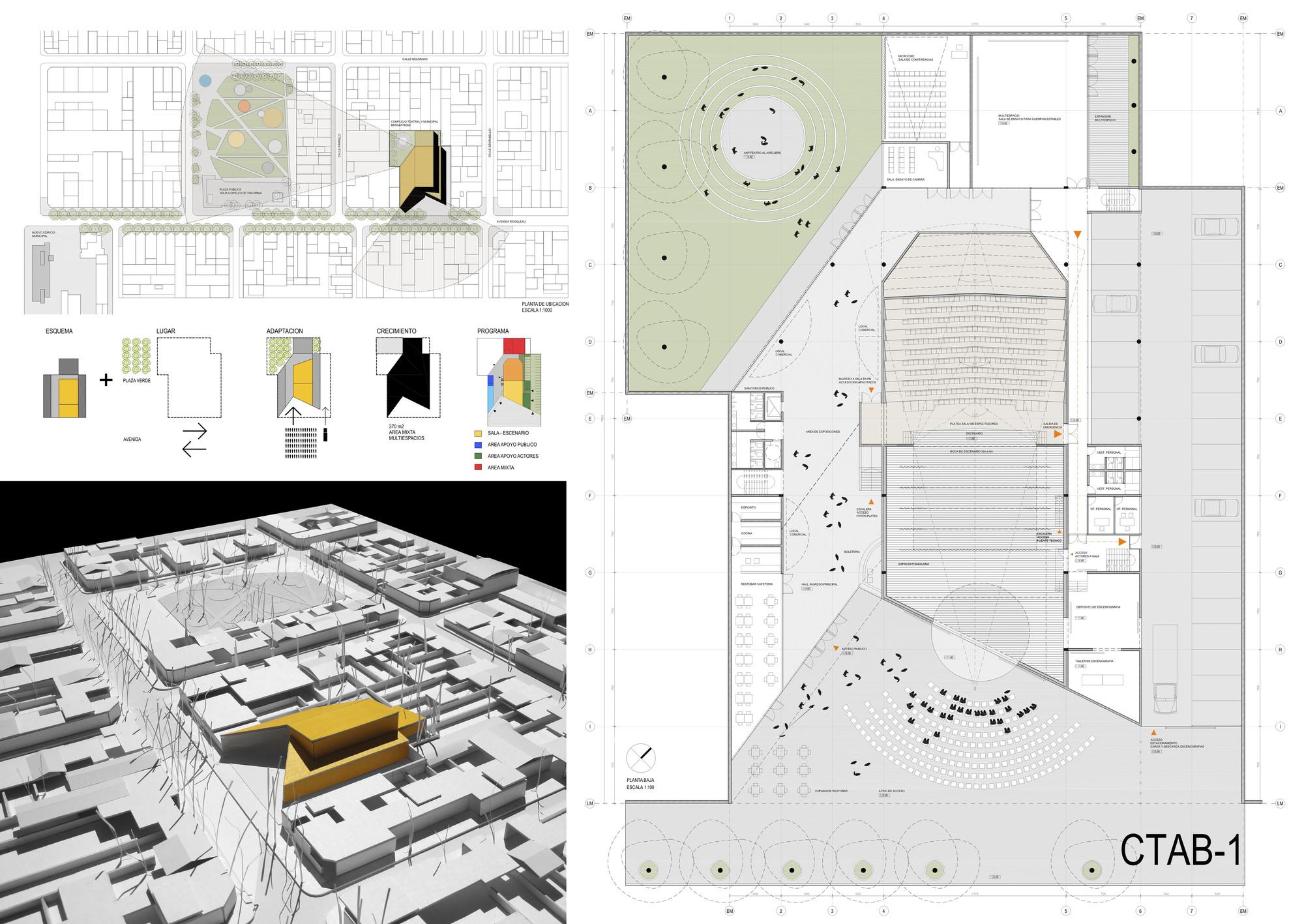 Lamina Segundo Lugar. Image Courtesy of Colegio de Arquitectos de la Provincia de Buenos Aires