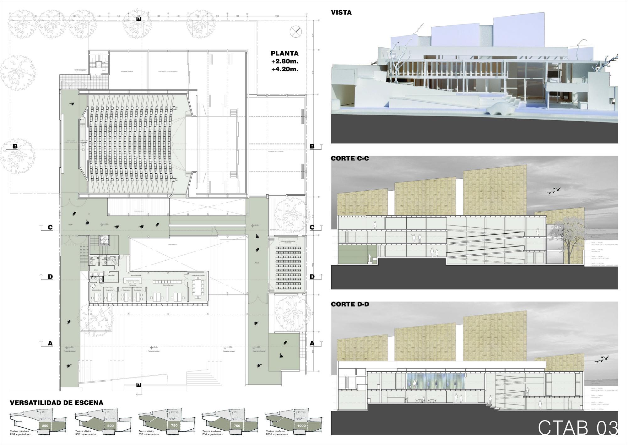 Lamina Tercer Lugar. Image Courtesy of Colegio de Arquitectos de la Provincia de Buenos Aires
