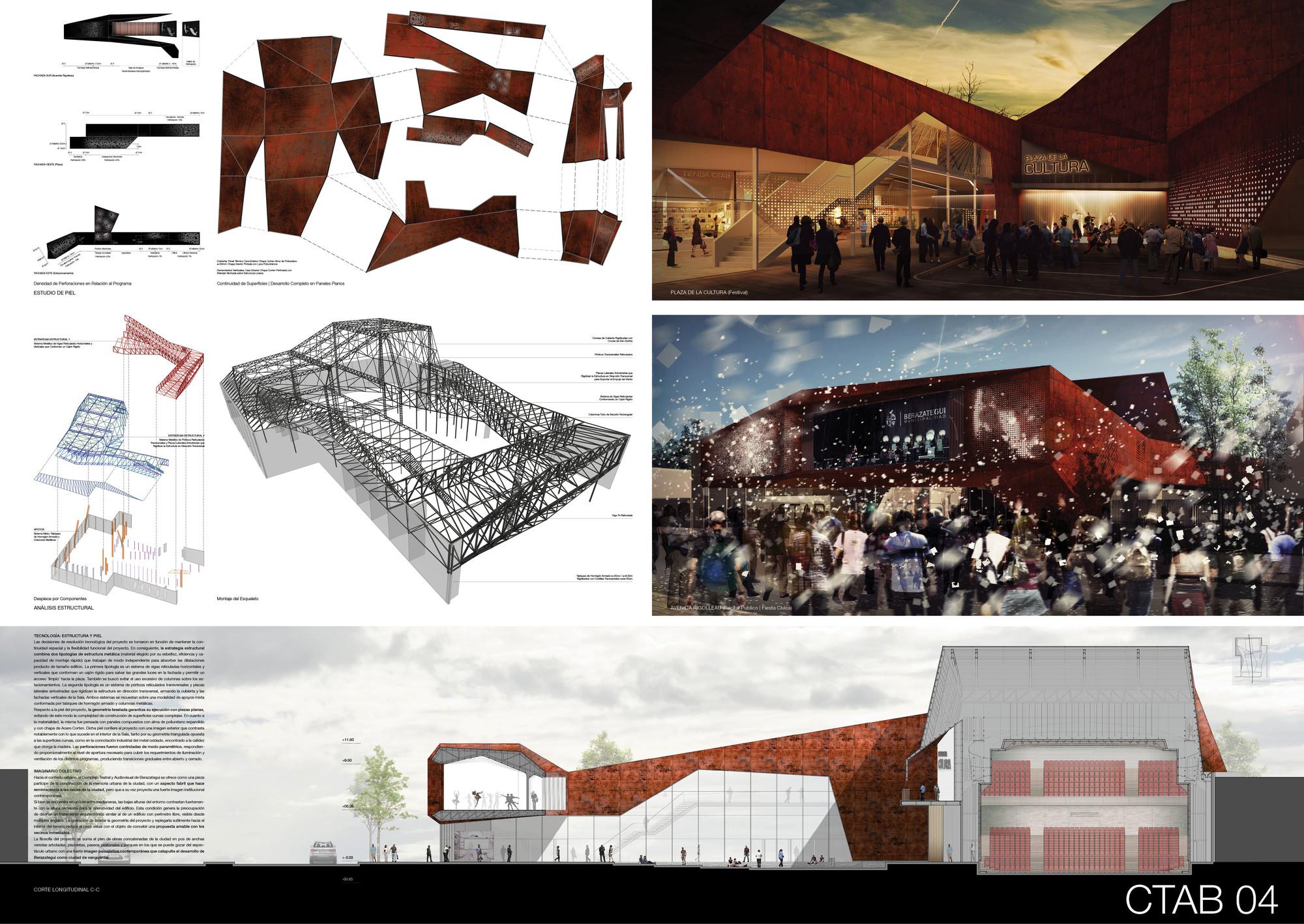 Lamina Mencion Equipo 91. Image Courtesy of Colegio de Arquitectos de la Provincia de Buenos Aires