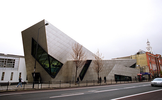 Libeskind's Institute for Democracy and Conflict Resolution Abandoned, Libeskind's Orion Building, Post Graduate Centre of London Metropolitain University, Holloway. Image © janis.photo