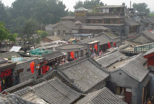 Above Beijing's historic hutongs. Image © Ivan Walsh