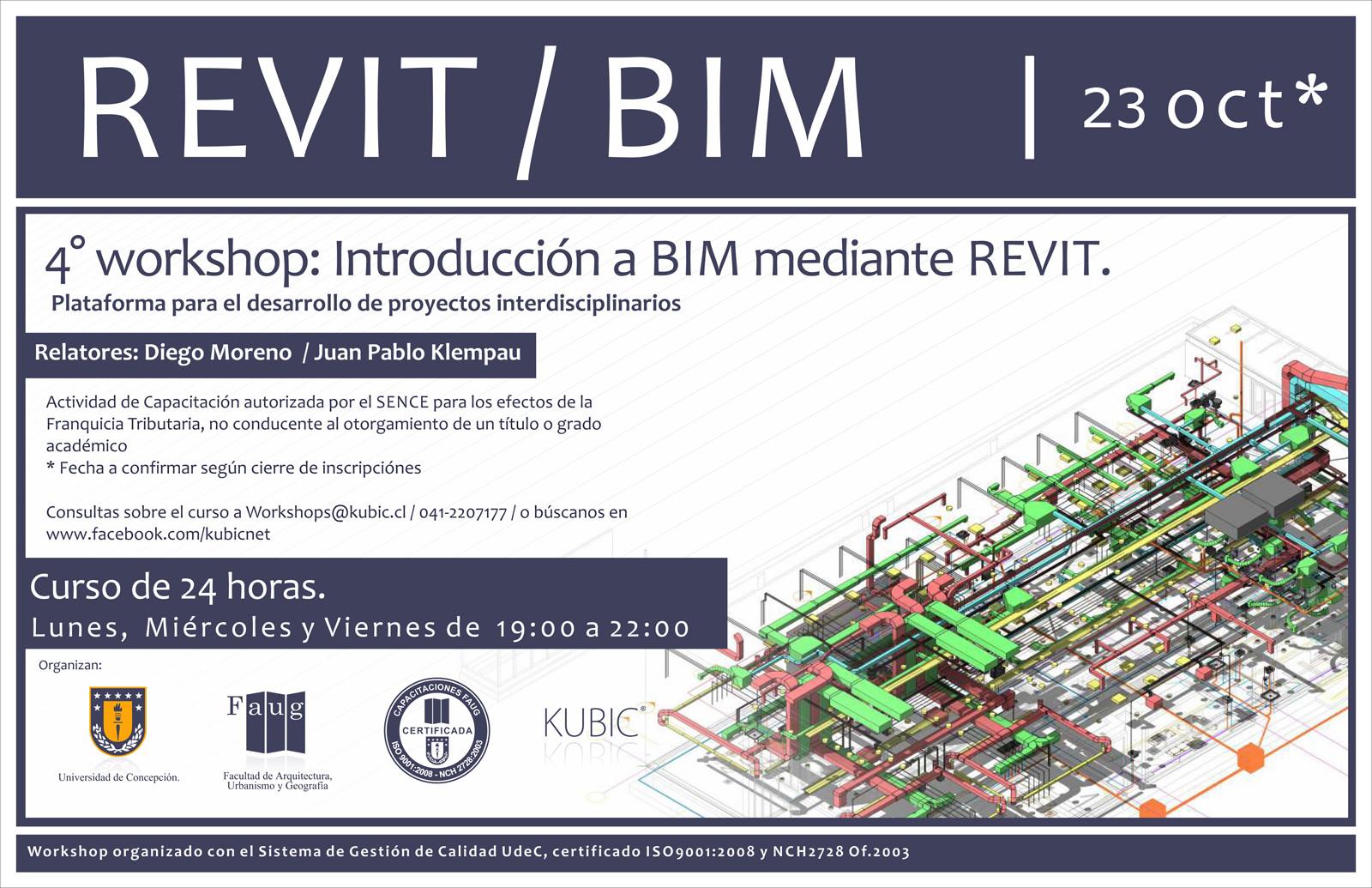 Workshop Interdisciplinario de introducción a BIM mediante Autodesk REVIT [¡Sorteamos un Cupo!]