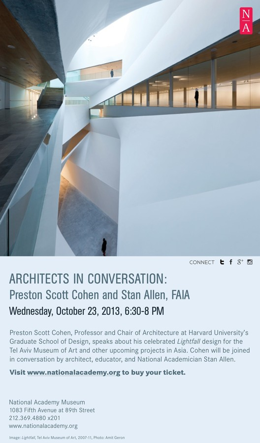 Architects in Conversation: Preston Scott Cohen and Stan Allen, FAIA