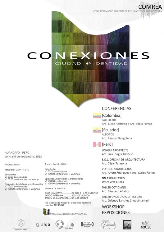 COMREA: Congreso Macroregional de Estudiantes de Arquitectura / Perú ¡Sorteamos 5 cupos!