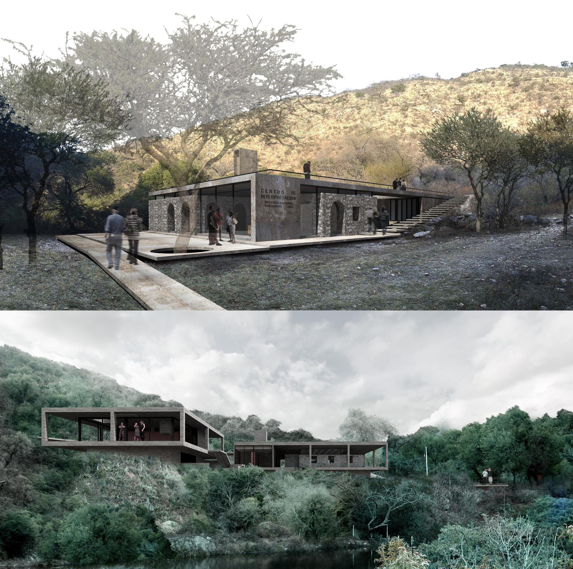 Segundo y Tercer lugar Concurso Nacional para El Centro de Interpretación Ambiental y Casa de Guardaparques Reserva Natural Vaquerias de Córdoba