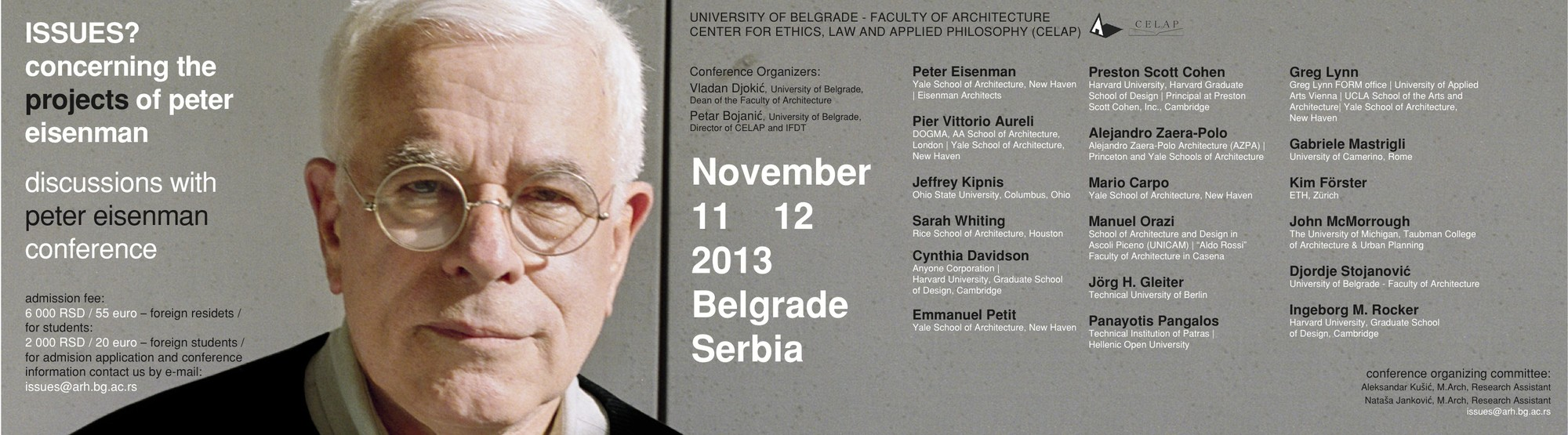 ISSUES? Concerning the projects of Peter Eisenman