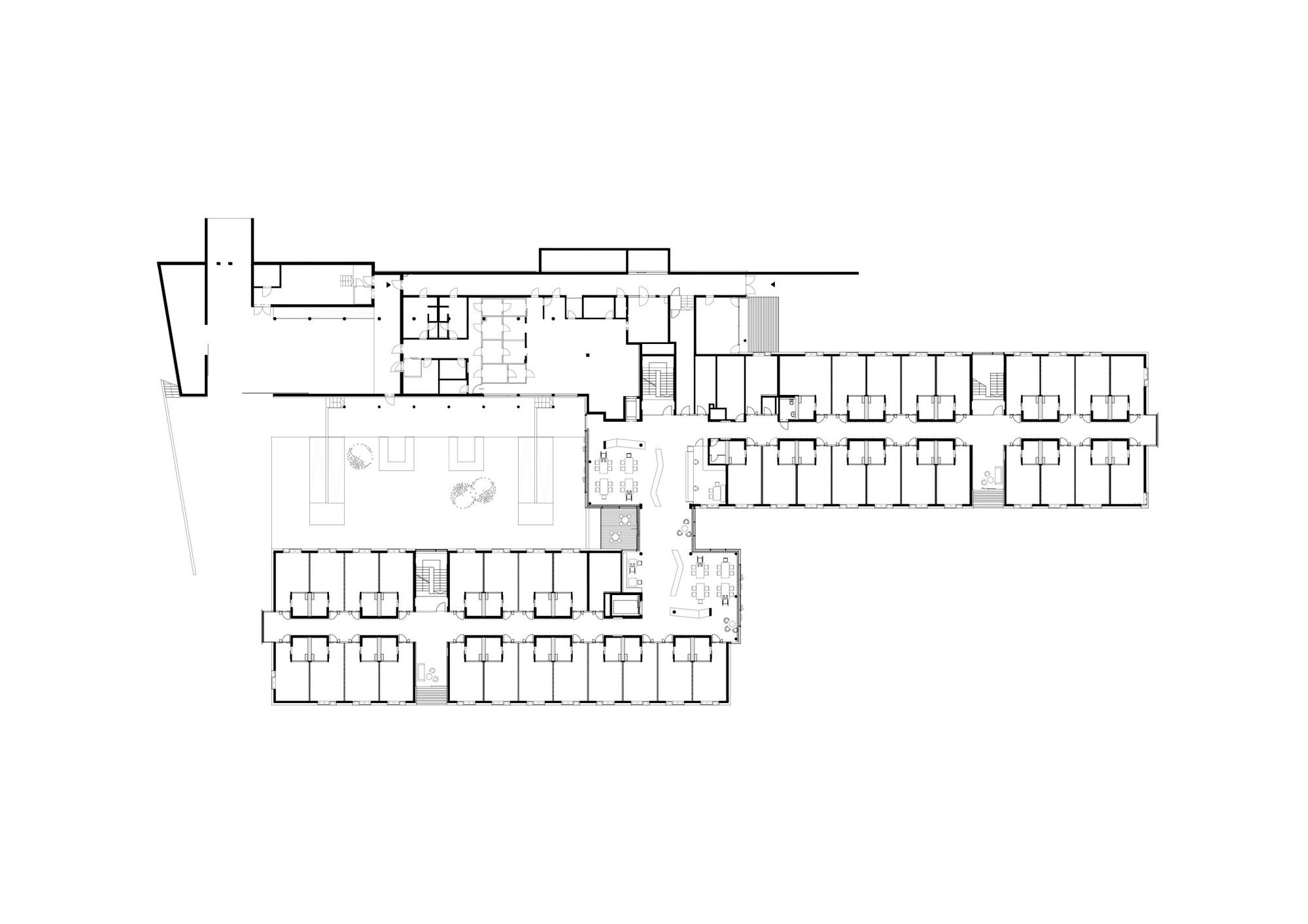 gallery of nursing home gartner neururer 13 floor plan