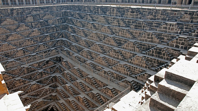 The Most Amazing (Unknown) Buildings In the World, Chand Baori. Via Flickr CC User. Used under <a href='https://creativecommons.org/licenses/by-sa/2.0/'>Creative Commons</a>