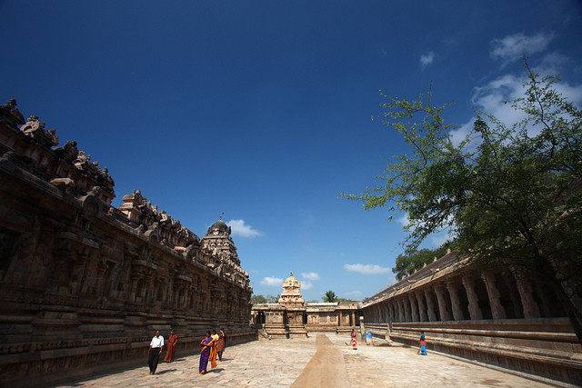 Airavatesvara temple. Via Flickr CC User. Used under <a href='https://creativecommons.org/licenses/by-sa/2.0/'>Creative Commons</a>