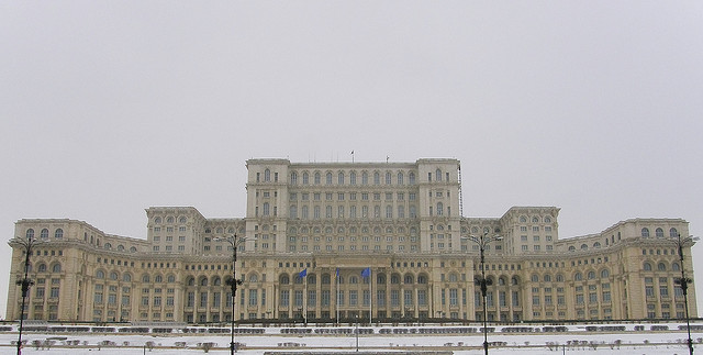 Parliament Palace, Bucharest. Via Flickr CC user. Used under <a href='https://creativecommons.org/licenses/by-sa/2.0/'>Creative Commons</a>