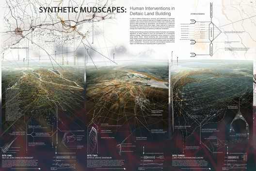 Synthetic Mudscapes: Human Interventions in Deltaic Land Building. Image Courtesy of ONE Prize