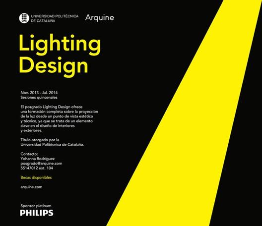 Posgrado en Diseño de Iluminación / Arquine + Universidad Politécnica de Cataluña, Cortesía Arquine