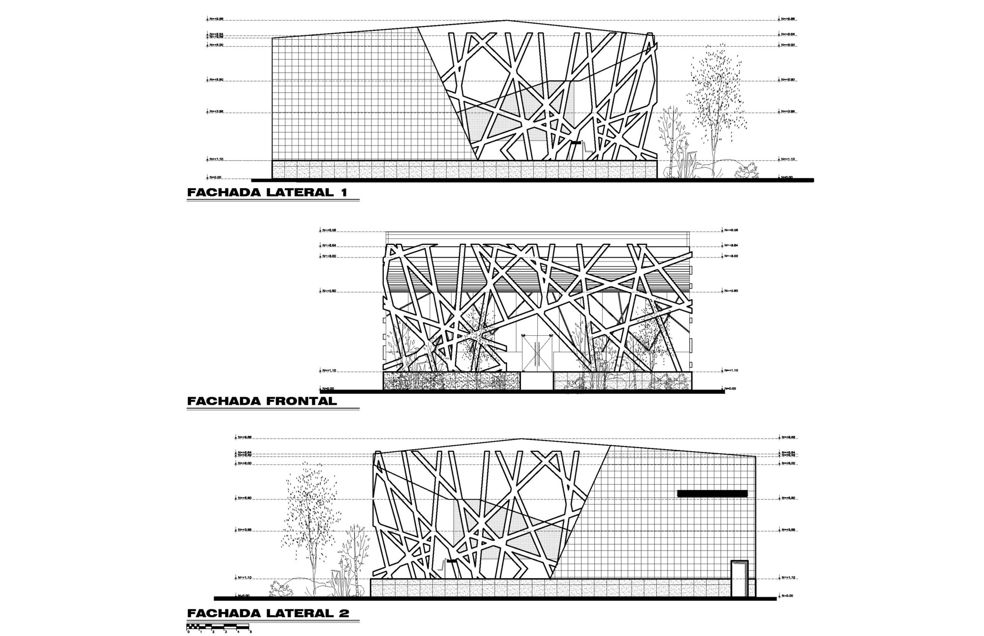 Plan And Elevation Of Restaurant : Restaurant koi sushi grupo spazio archdaily