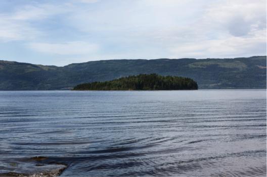 The island of Utøya.