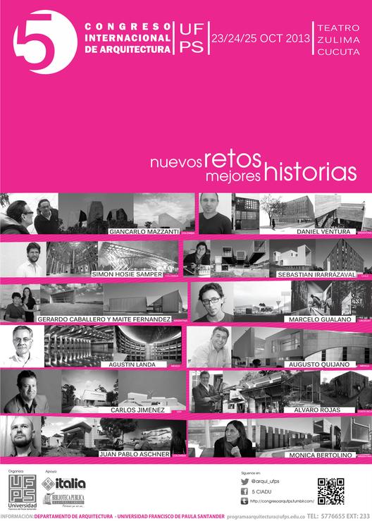 """V Congreso Internacional de Arquitectura """"Nuevos Retos, Mejores Historias"""" en Colombia, Courtesy of Universidad Francisco de Paula Santander"""