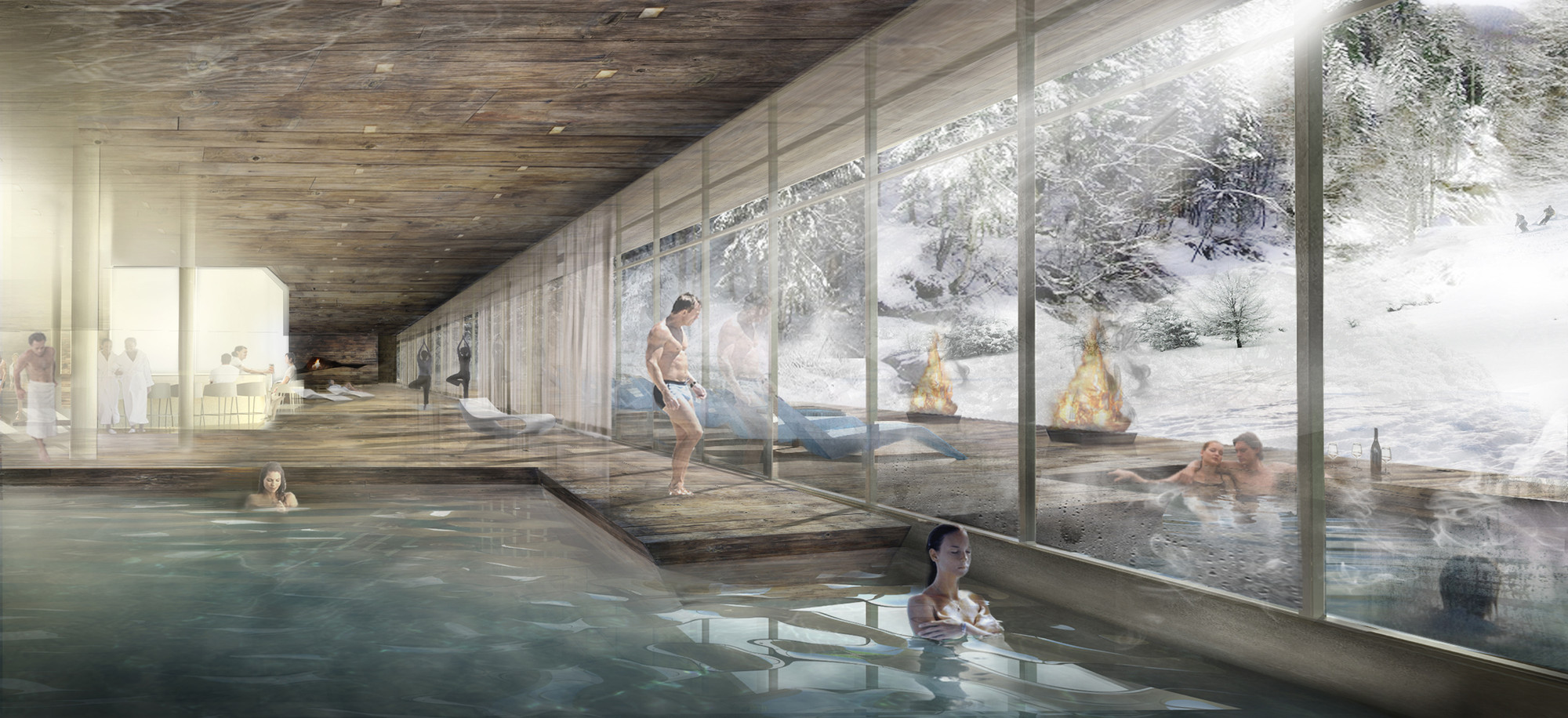 Graft wins competition to design resort in lofer archdaily for Hotel spa design