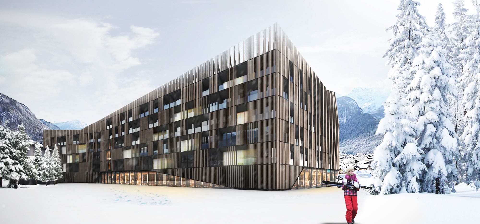 GRAFT Wins Competition to Design Resort in Lofer , Hotel. Image Courtesy of GRAFT