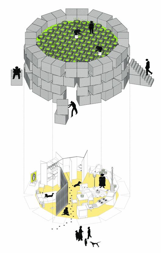 Sistema de ocupación. Image Courtesy of Anónima