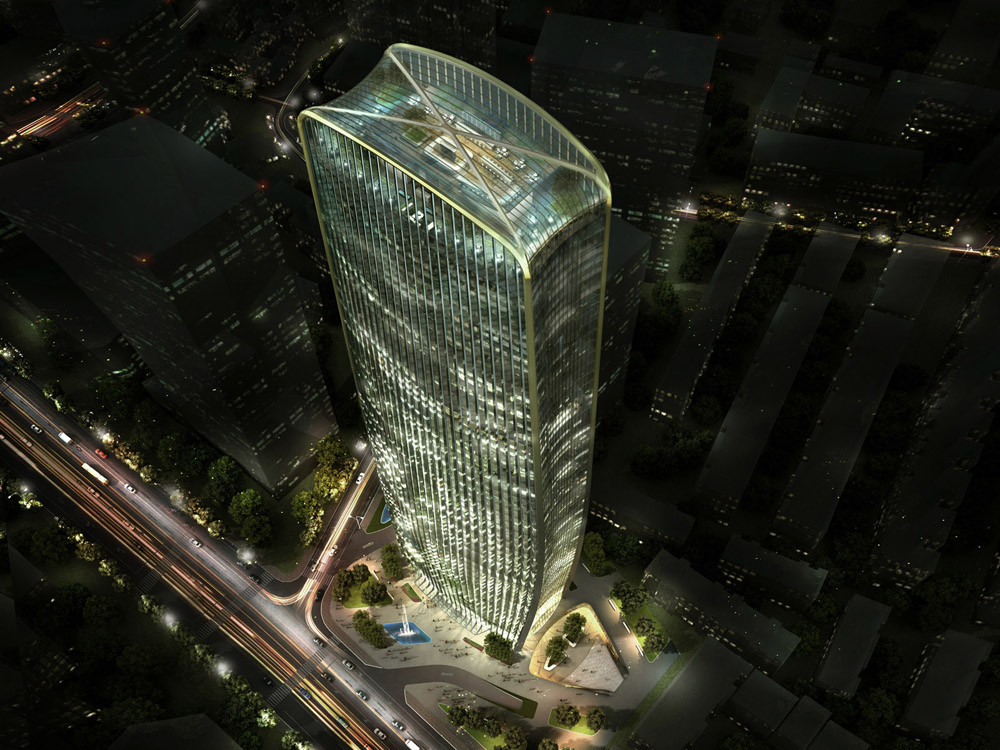 HENN Wins Competition to Build Cenke Tower in Taiyuan, © Visualisation HENN