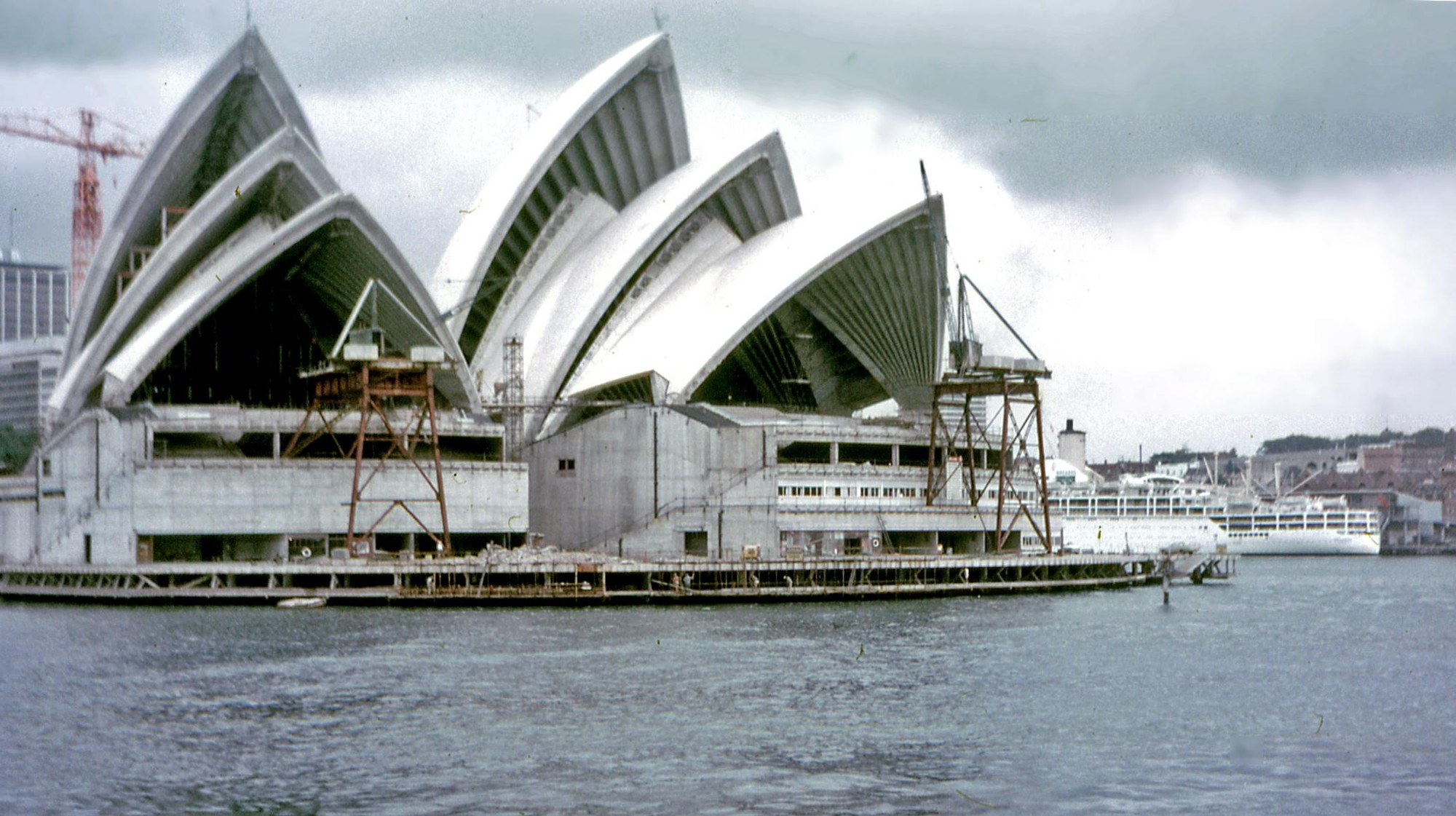 The Opera House Project: Telling the Story of Australia's Icon, Under Construction in 1968. Image © Flickr – User: PhillipC