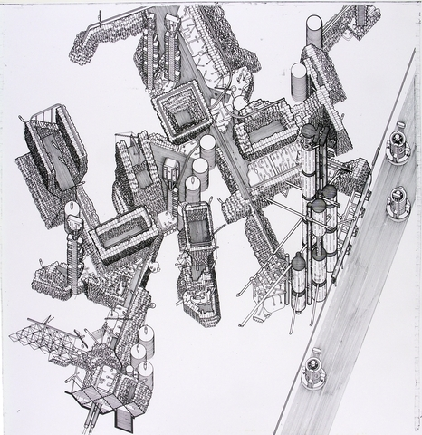 Plug-In City. Imagen © Peter Cook via Archigram Archives