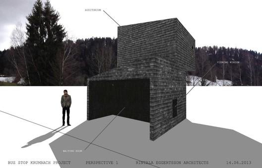 Rintala Eggertsson Architect's BUS:STOP design. Image Courtesy of Rintala Eggertsson Architects / BUS:STOP Krumbach